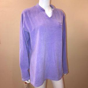 Alaska Summit Souvenir Fleece Pullover Lavender